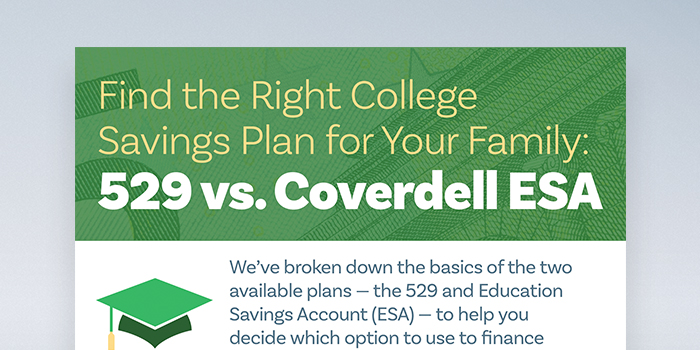 Infographic: Find the Right College Savings Plan for Your Family header image