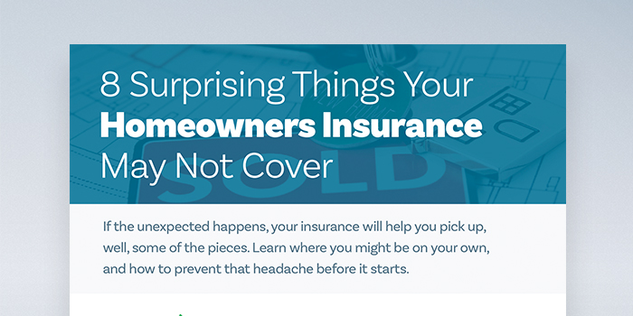 Infographic: 8 Surprising Things Your Homeowners Insurance May Not Cover header image