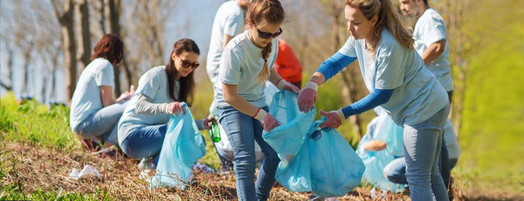 Community Involvement - Picking up Litter