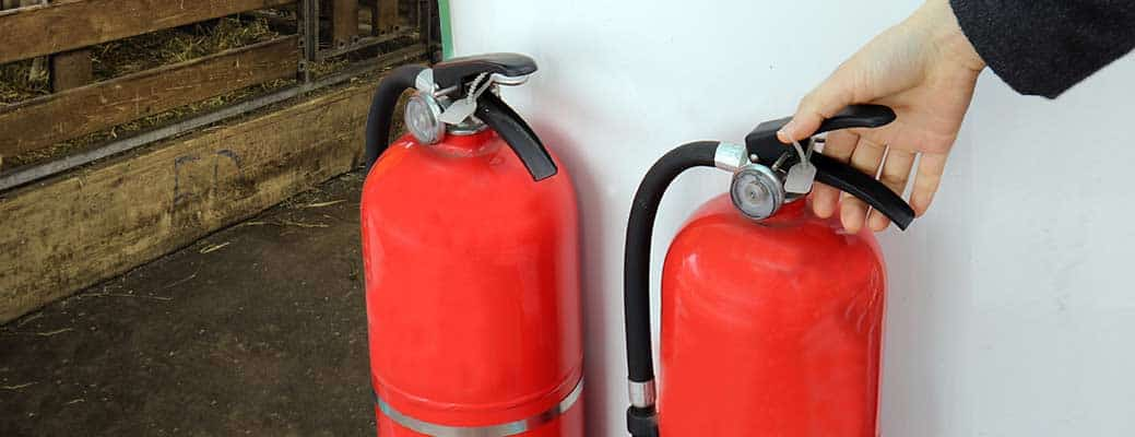 All the Places You Need Fire Extinguishers on Your Farm