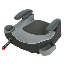 A picture of a child's car booster seat.