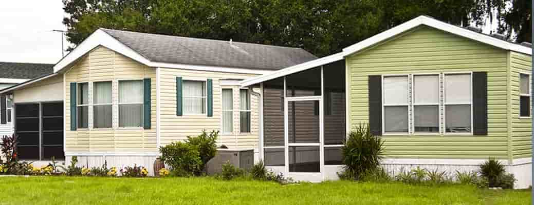 Two mobile homes