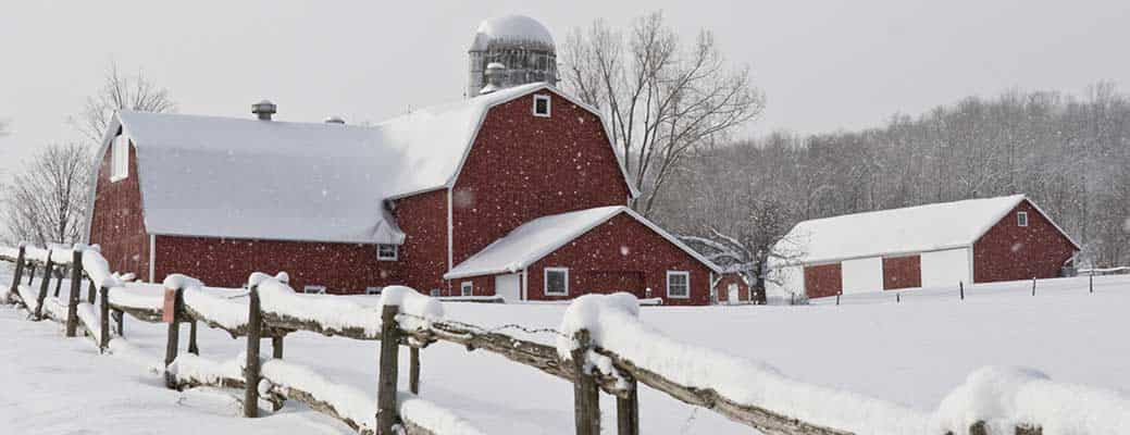 How to Prevent Ice Dams and Snow Build-up on Farm Buildings