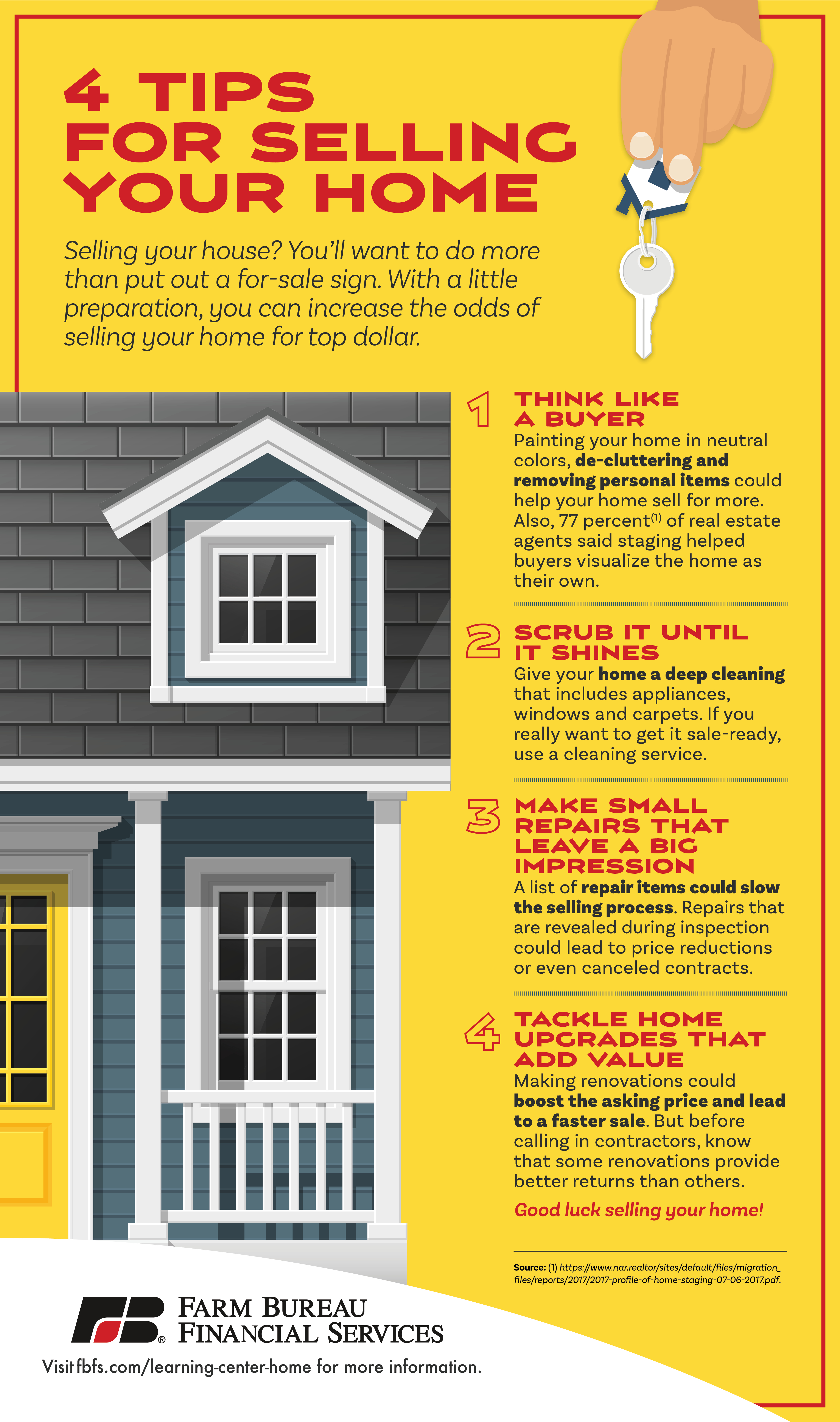 Infographic: 4 Successful Tips for Selling Your Home