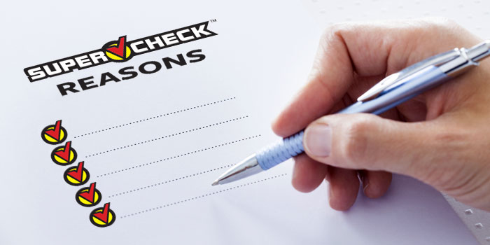 SuperCheck Reasons